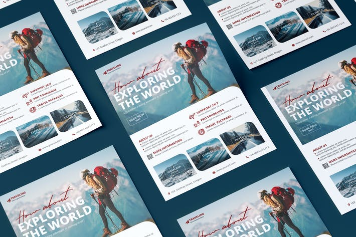 Thumbnail for Travel Flyer PSD Template