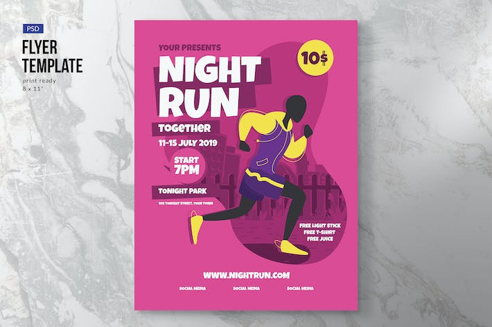 Thumbnail for Run Event Flyer Template