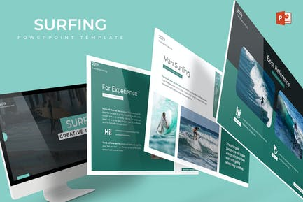 Surfing - Powerpoint Template