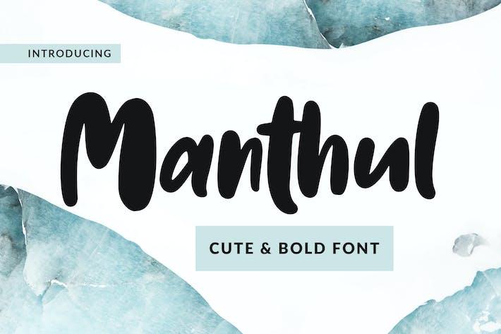 Manthul - Cute & Bold Font