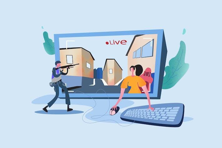 Thumbnail for Stream Games - Vector Illustration