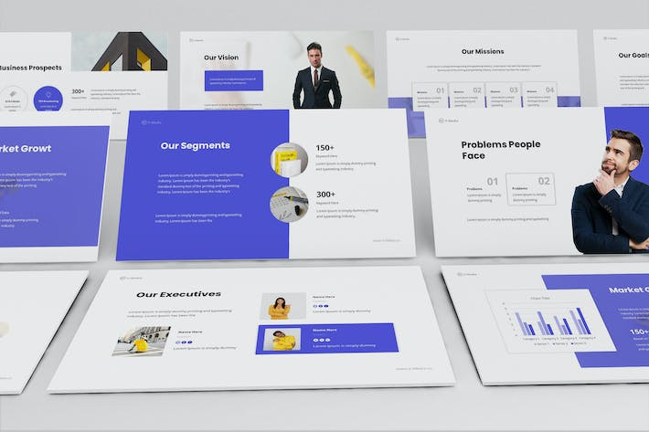 Thumbnail for V-Media - Company Profile Keynote Template