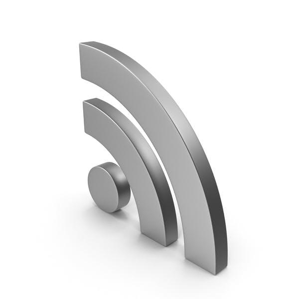 Металл символа RSS