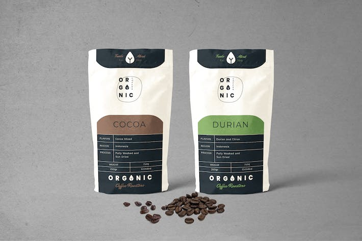 Thumbnail for Coffee Pounch Bag Packaging Template