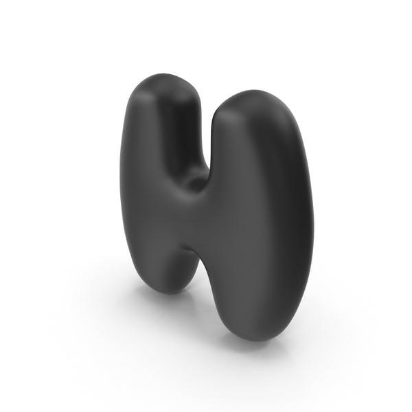 Пузырьковая буква h