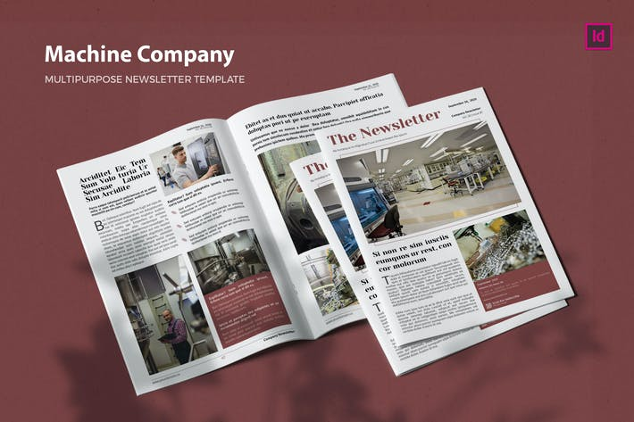 Thumbnail for Machine Company - Newsletter Template