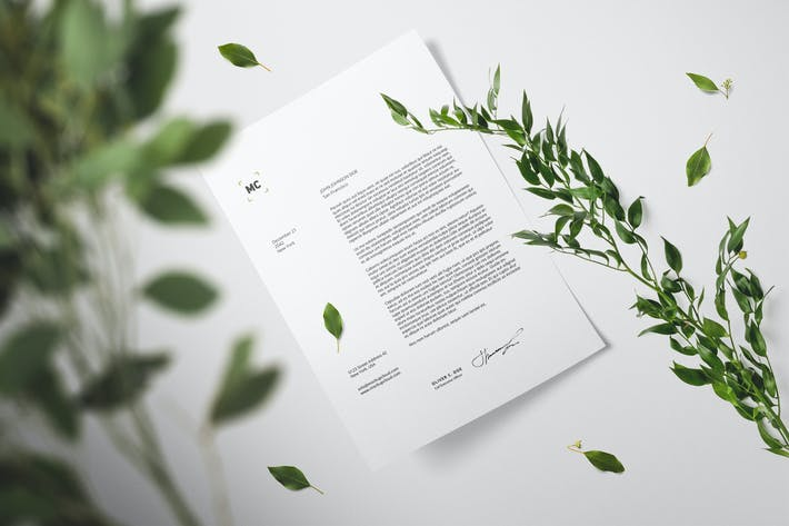Thumbnail for Floral Stationery Branding Mockups