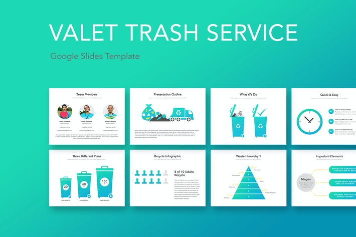 Thumbnail for Valet Trash Google Slides Template