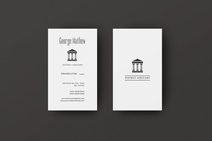 Thumbnail for Vertical Business Card Judiciary