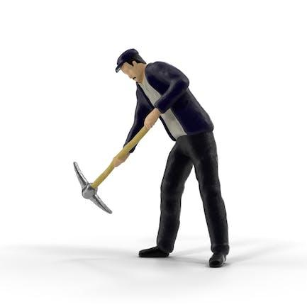 Hombre en miniatura en el Trabajo