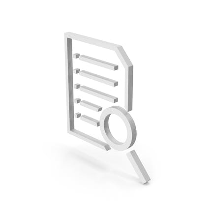 Symbol Document With Magnifying Glass