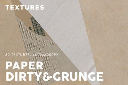 Schmutziges Papier Texturen