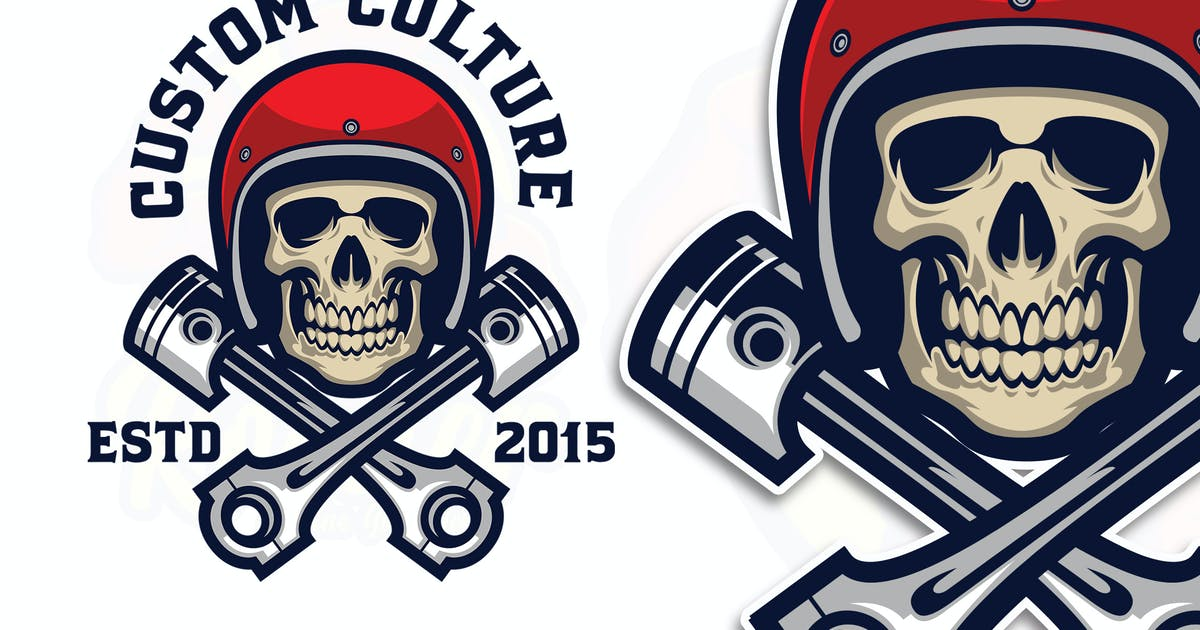 Download Skull Rider Logo Template by Blankids