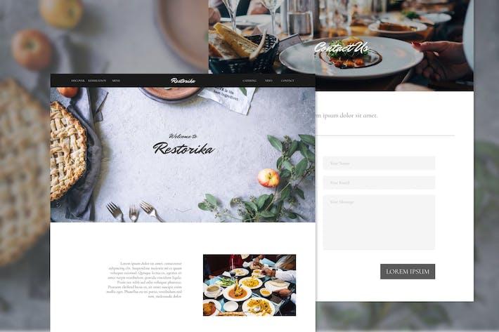 Thumbnail for Restorika Delicate Restaurant Adobe XD Template