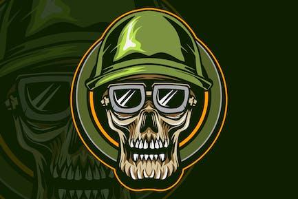skull military vector illustration