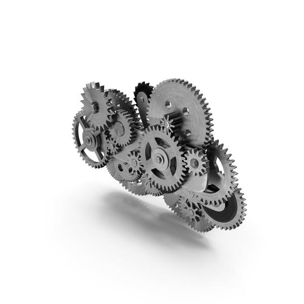 Uhrwerk-Gear-Mechanismus Silber