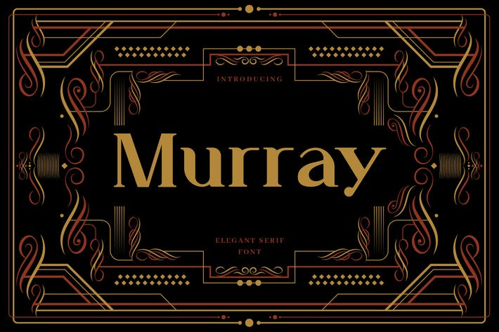 Thumbnail for Murray - Art Deco Display Typeface
