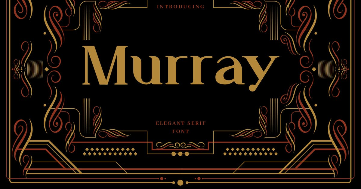 Download Murray - Art Deco Display Typeface by naulicrea