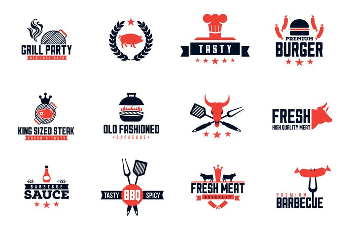 Cover Image For Barbecue Logo Pack