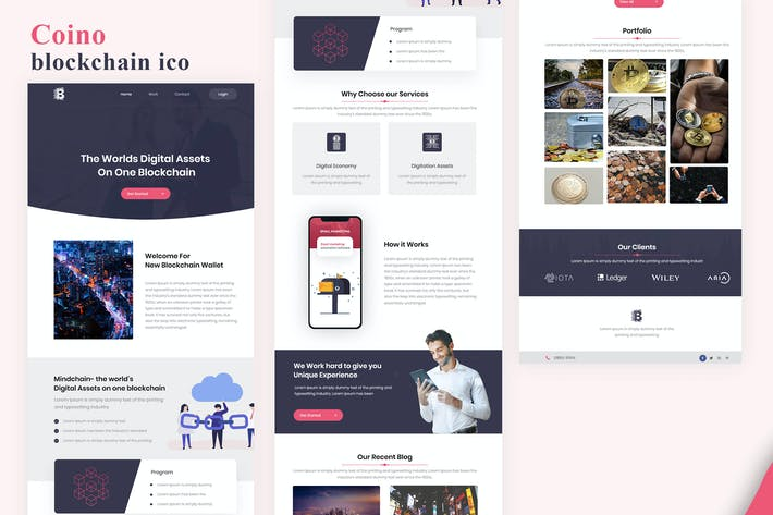 Thumbnail for Coino - blockchain ico Email Newsletter