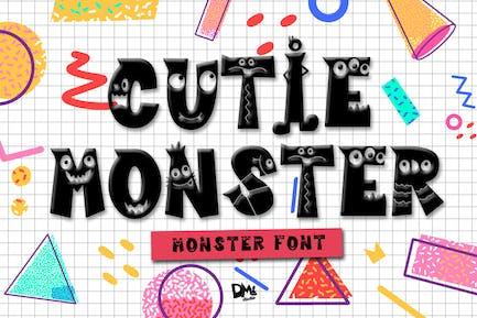 Cutie Monster - Monster Font