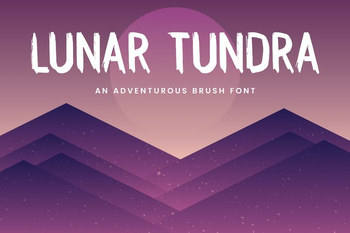 Thumbnail for Lunar Tundra Brush Font