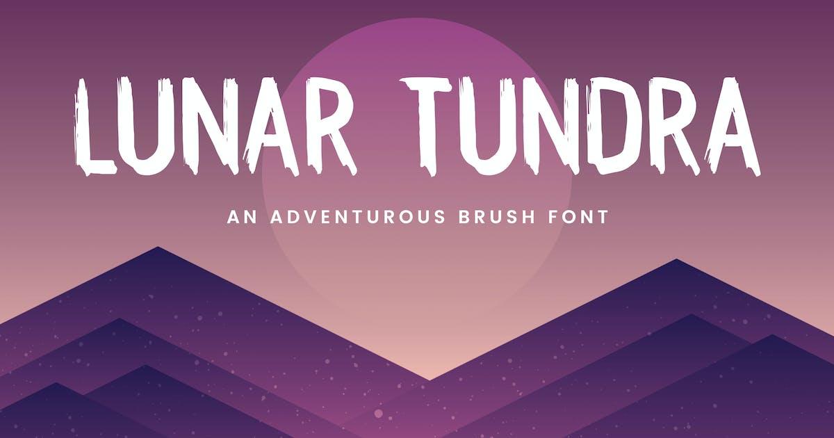 Lunar Tundra Brush Font by adrianpelletier