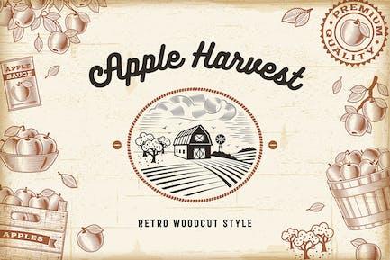 Kit de cosecha de manzana Vintage