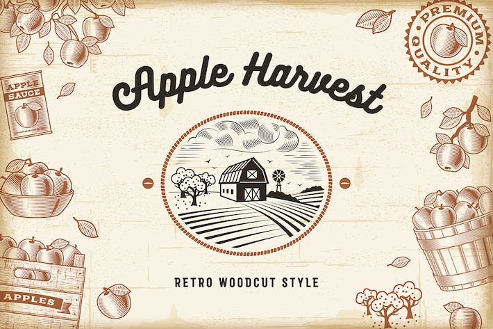 Thumbnail for Vintage Apple Harvest Set
