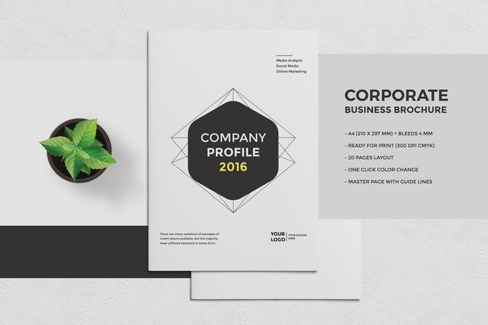 Thumbnail for Corporate Business Brochure 20 Pages A4