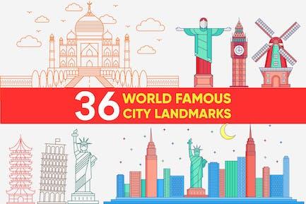 WORLD FAMOUS CITY LANDMARK VECTOR SET