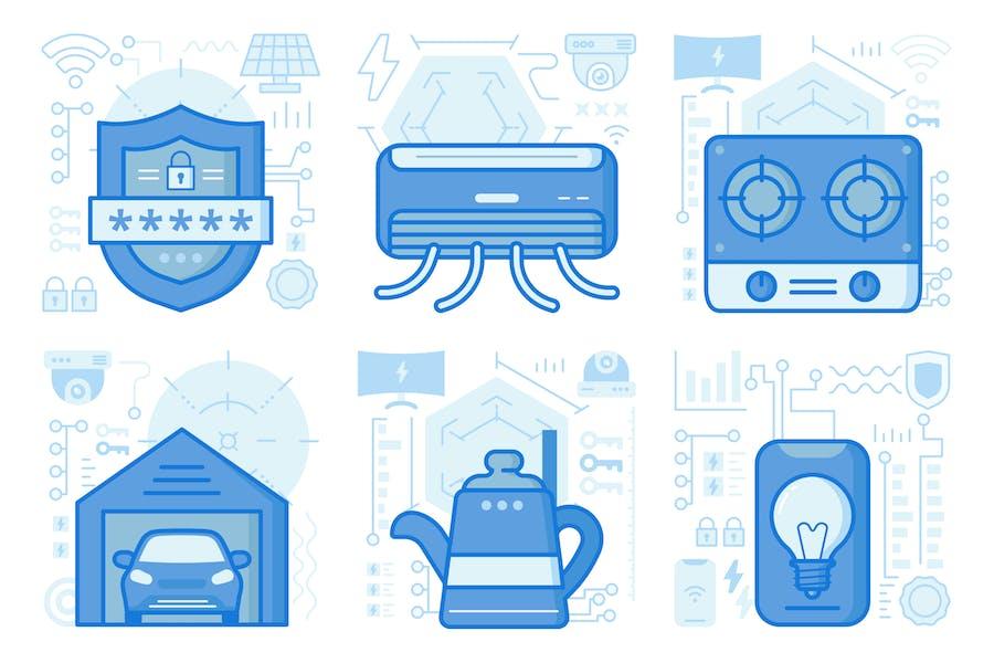 Security Passcode UI UX Illustrations