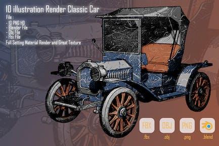 10 illustration Render Classic Car