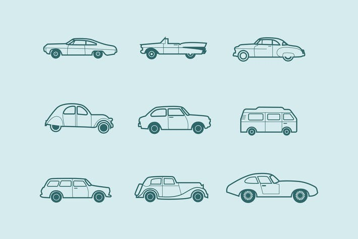 Thumbnail for 9 Classic and Retro Car Icons