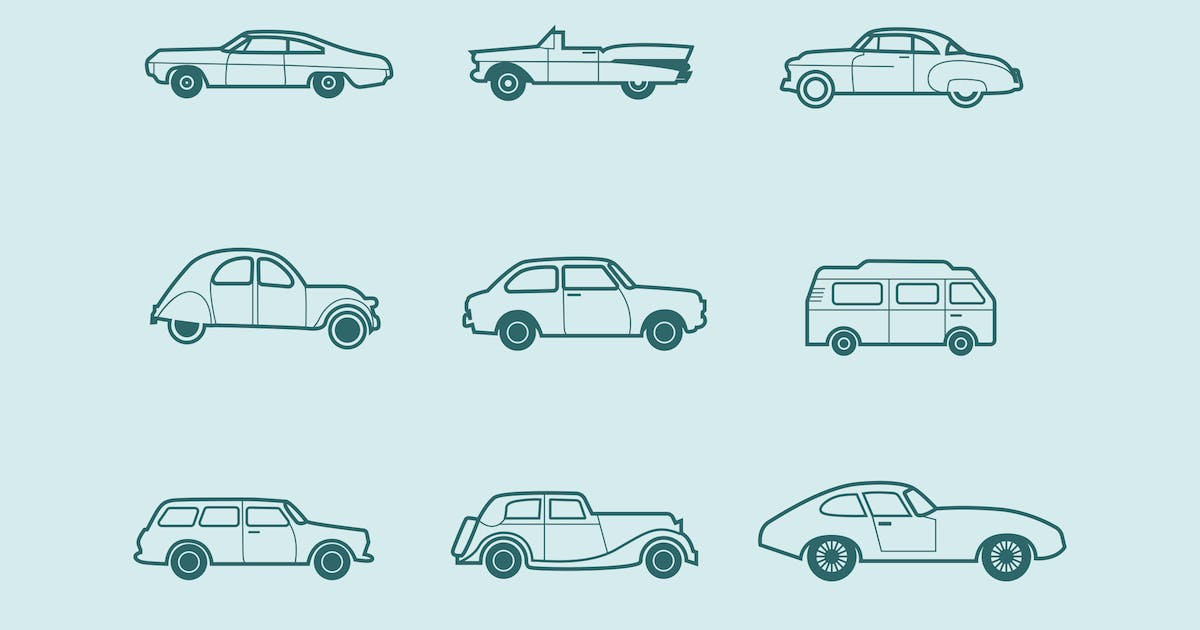 Download 9 Classic and Retro Car Icons by Unknow
