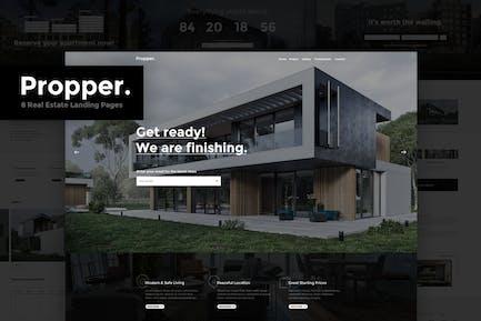 Propper - Real Estate PSD Landing Page