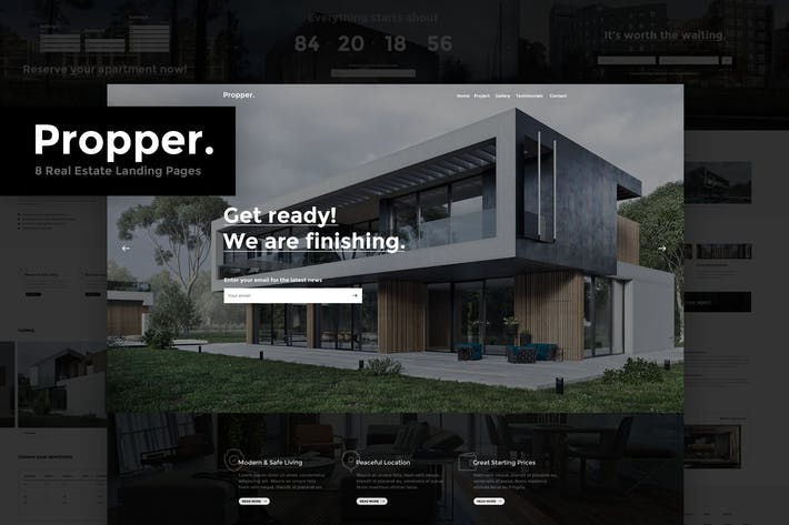 Thumbnail for Propper - Real Estate PSD Landing Page