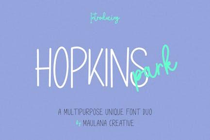 Hopkins Park Multipurpose Unique Font Duo