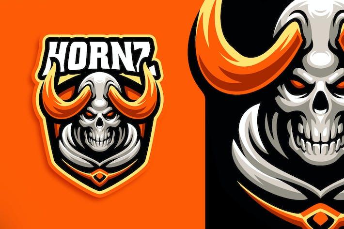 Thumbnail for Hornz Skull Esport and Sport Logo Template