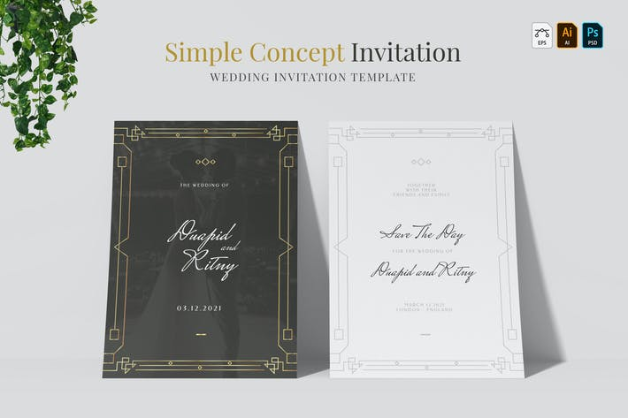 Thumbnail for Simple Concept | Wedding Invitation
