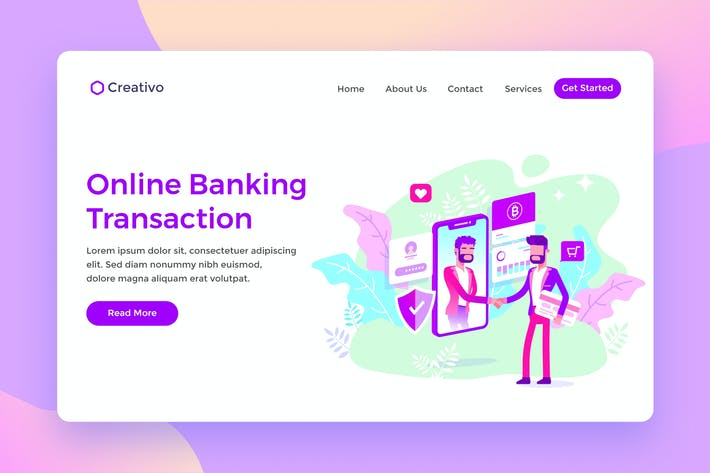 Cover Image For Online Banking Transaction Protection Landing Page