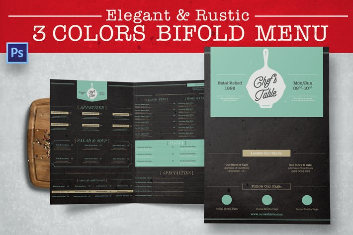 Thumbnail for Elegant Rustic Bifold Menu