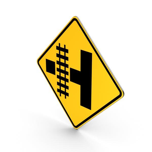 Railroad Intersection Warning Road Sign