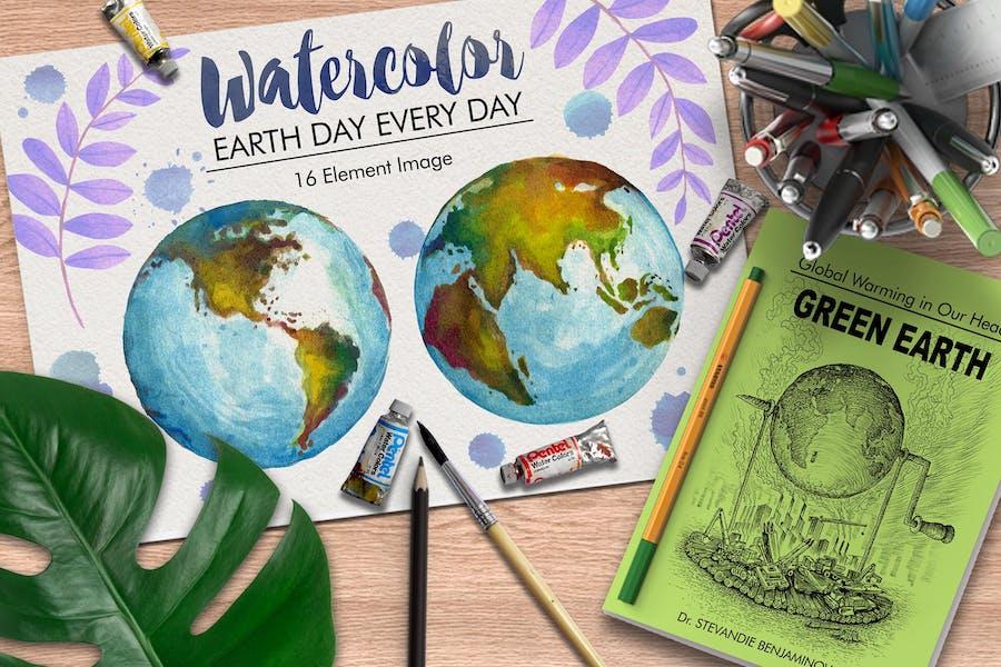Watercolor Earth