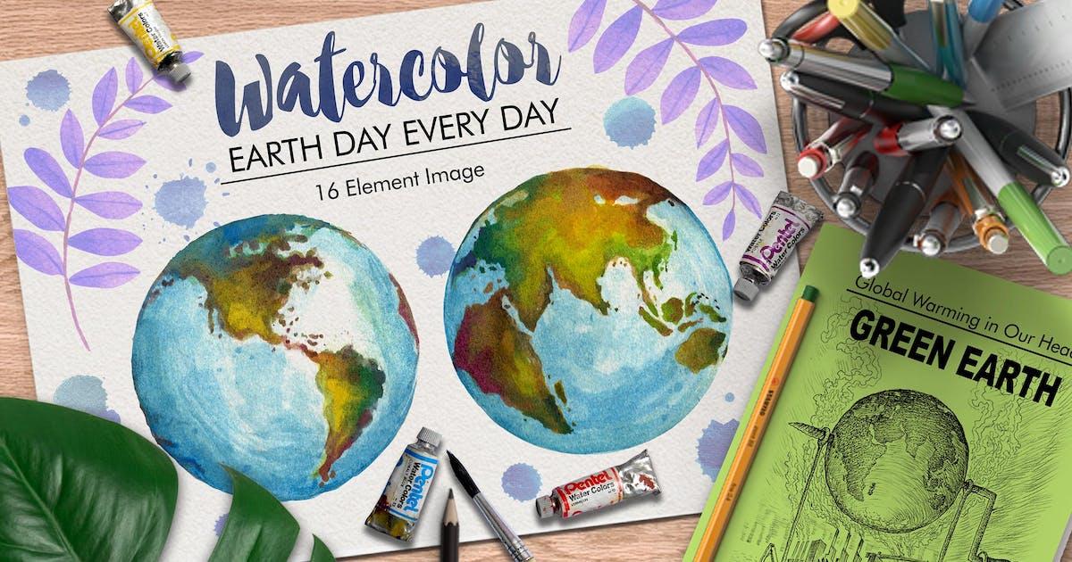 Download Watercolor Earth by graptailstudio
