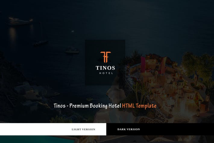 Cover Image For Tinos - Premium Booking Hotel HTML Template