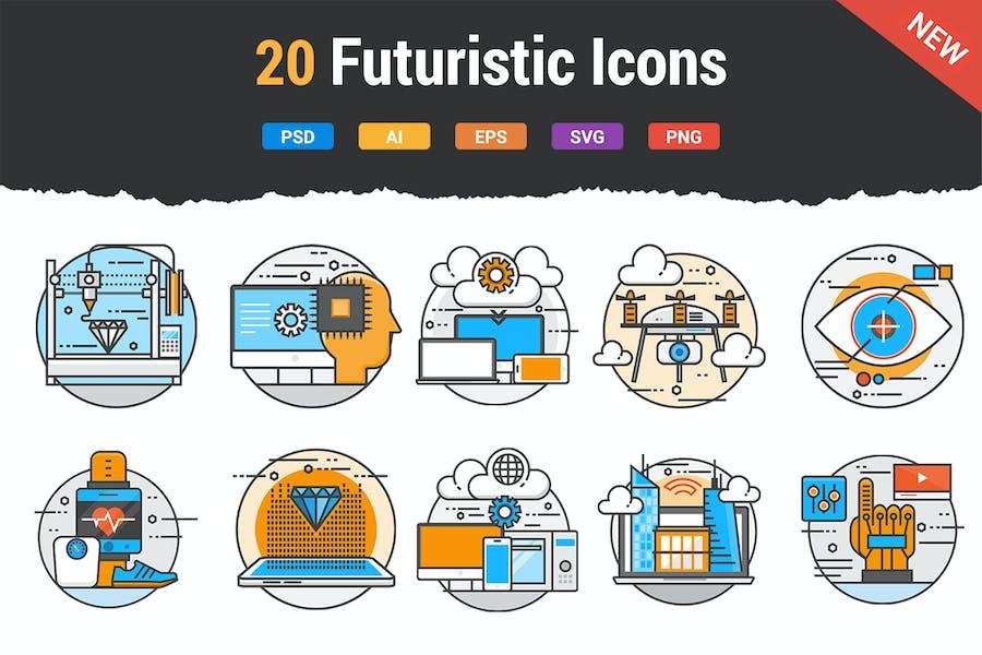 20 Flat Line Color Future Concepts