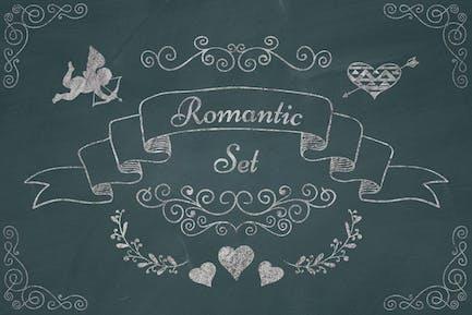 Romantic Elements. Chalk Drawing PNG