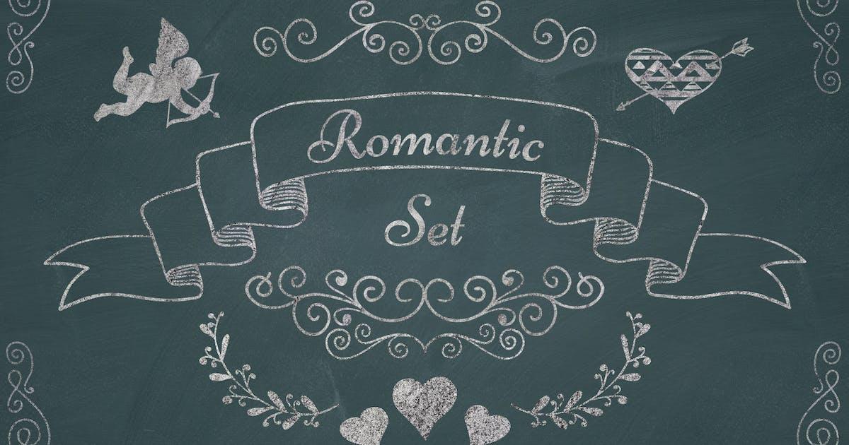 Download Romantic Elements. Chalk Drawing PNG by helga_helga