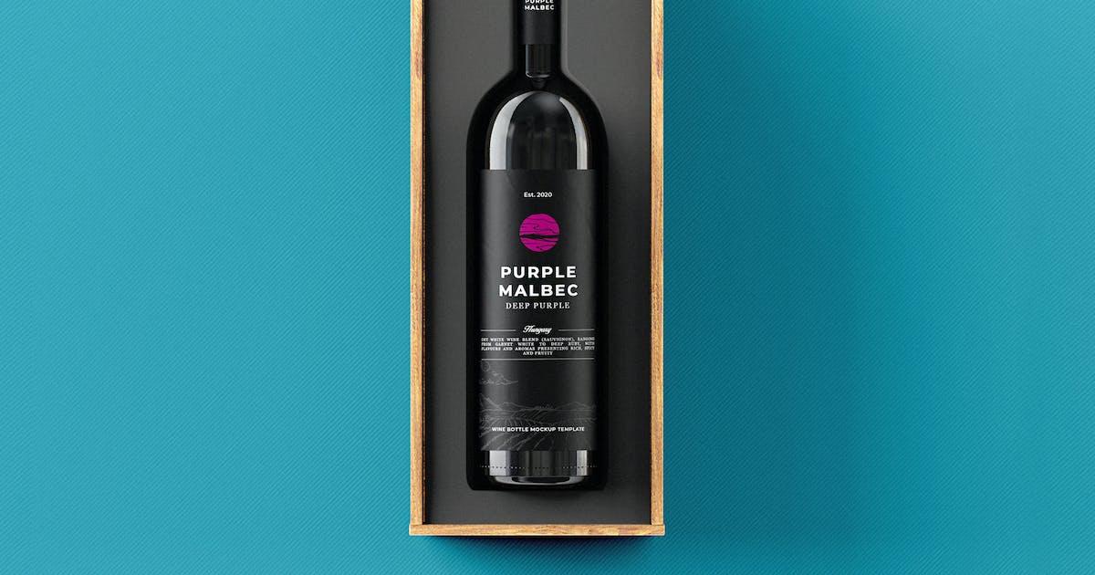 Download Wine Bottle Gift Box Mock-up Template by EightonesixStudios
